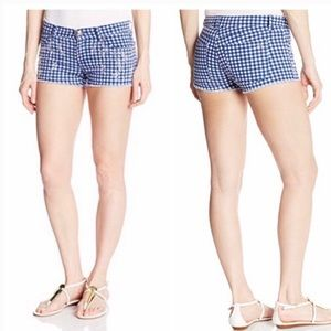 ✨Blue gingham rhinestone Juicy Couture Short✨